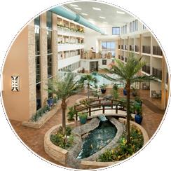 Indoor Pool, Hot Tubs, and Atrium Cafe located near Tropical Atrium
