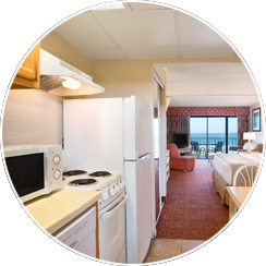 Spacious Fully-Equipped Efficiencies with Kitchenettes